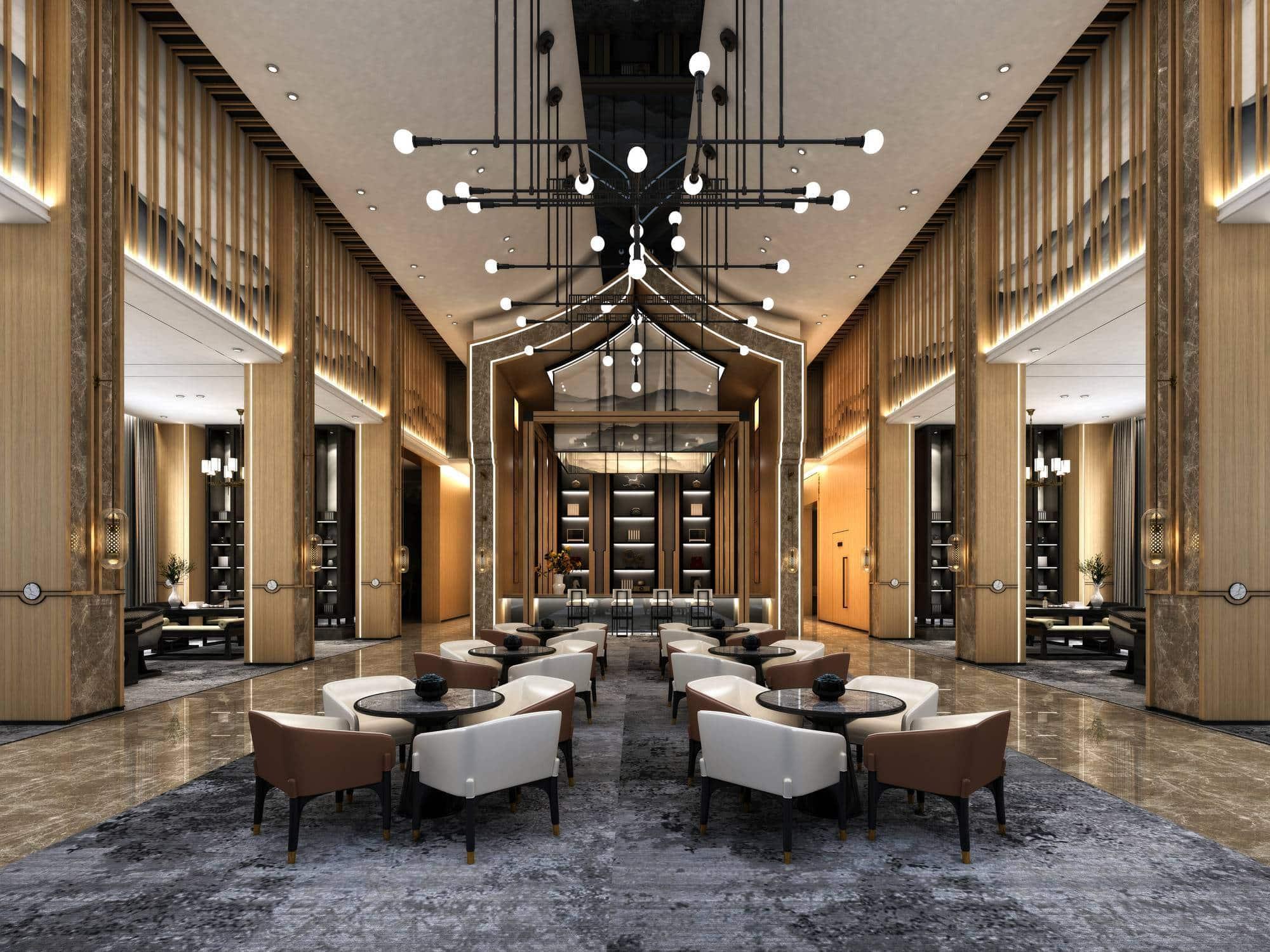 marbre revêtement de sol hall d'accueil