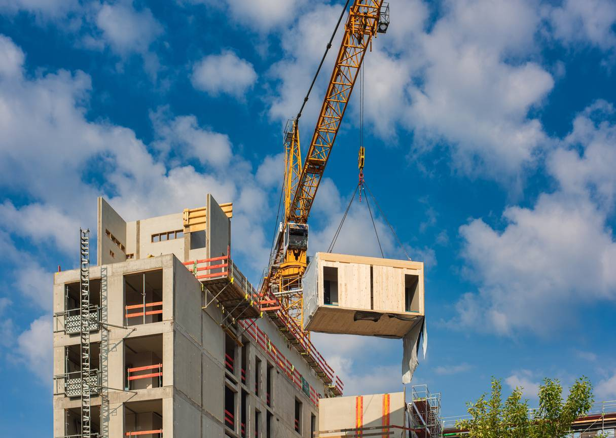 bâtiment modulaire chantier
